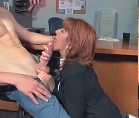 blowjob Mature office