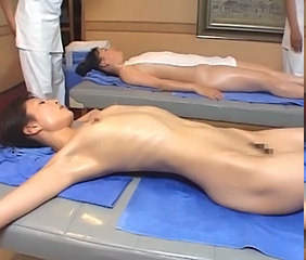 Skinny Oiled Japanese Abuse Bus + Asian Daughter