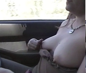 nice tits driving