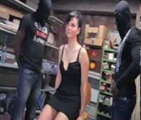 To many black cocks for Amandine, a beautifull milf that she wanted to be gangbanged and to be brutaly double penetrated.