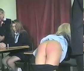 Spanking Vintage Student College Punish Teen Ass