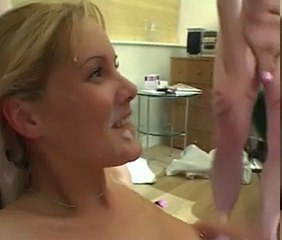 British Blonde Nicole gangbang with anal and DP.