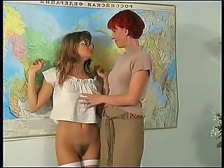 Hairy Russian School School Teacher Stockings