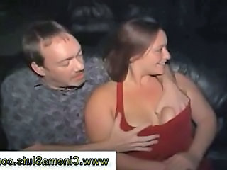 Real amateur public slut loses control and starts sucking a hard cock at a public movie theater