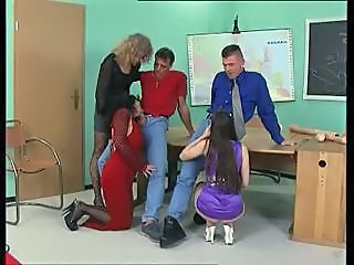 Clothed Groupsex School Blowjob