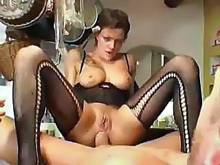 French European Riding Babe Anal French Anal Stockings