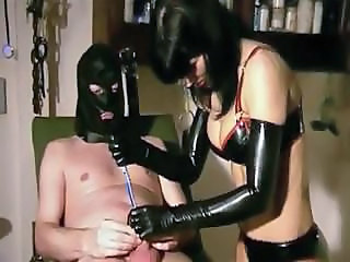 Slave Femdom Latex Torture