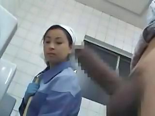 Toilet Uniform Asian Asian Teen Jerk Nurse Asian