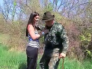 Army Outdoor Teen Grandpa Old And Young Outdoor