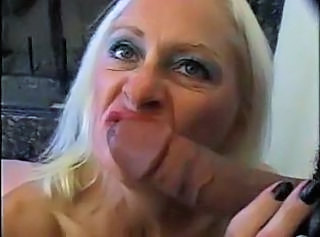 Granny Fishnet Granny Blonde Aunt German Gangbang