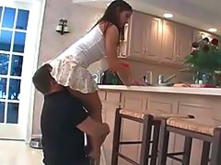 Facesitting Skirt Licking Kitchen Clothed