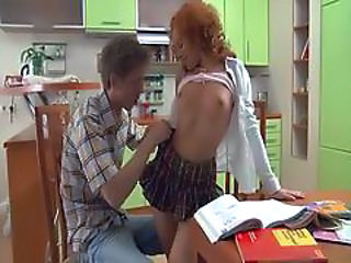 Sister Redhead Skirt Anal Teen Kitchen Teen Sister