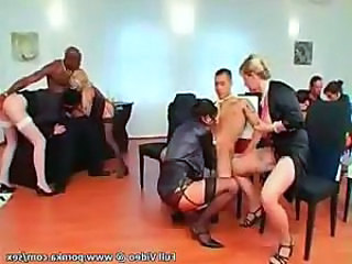 Dirty Euro-Girls Get Rocked in Jailhouse Sex Party