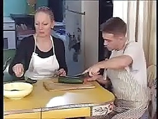Mom Mature Russian Kitchen Mature Outdoor Outdoor Mature