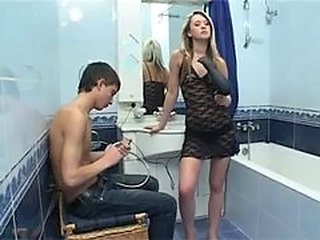 Bathroom Sex:hot  Russian Teen Natasha