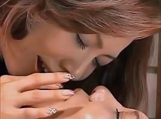 Asian Daughter Kissing Asian Lesbian Daughter Daughter Mom