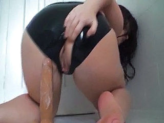 Ass Dildo Latex Dildo Riding