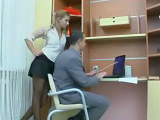 Secretary Amazing Russian Office Teen Russian Teen Stockings