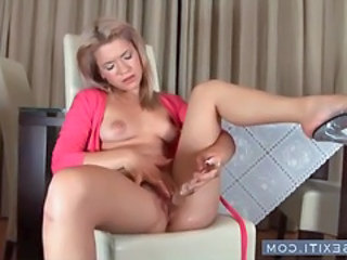Amazing Dildo Masturbating Teen Ass Blonde Teen Dildo Teen