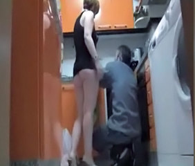 HiddenCam Voyeur Kitchen Milf Ass Plumper Spy