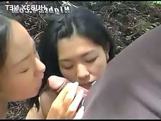 Outdoor Small cock Threesome Blowjob Japanese Japanese Blowjob Outdoor