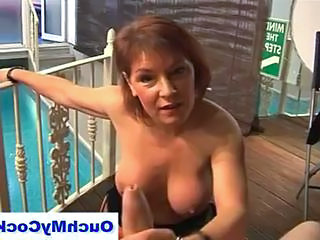 British Mature Handjob Boss British Mature Handjob Mature