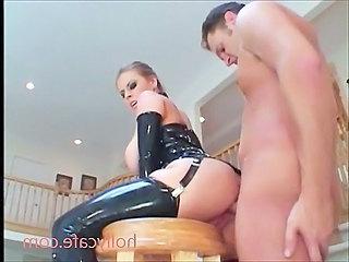 Latex Housewife Anal Big tits Latex