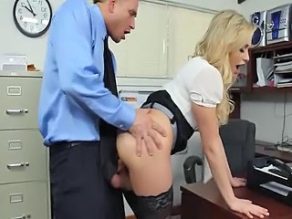 Secretary Amazing Clothed Boss Cute Ass Cute Blonde