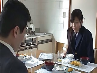 Daughter Kitchen Uniform Asian Teen Daughter Japanese Teen
