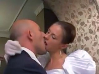 shemale has a threesome with wedding couple