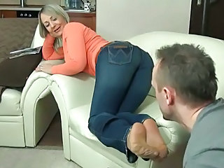 Feet Jeans Mature Fetish Foot Footjob  Nylon
