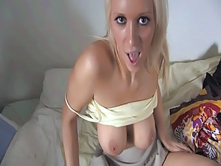 Northern Lass wants It in all directions from over her tits JOE
