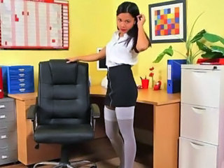 Exotic schoolgir enjoy mock-pathetic
