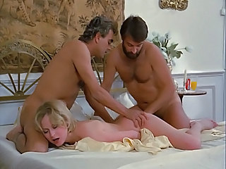 hot french lady moisture double penetration primarily bed