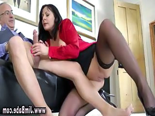 Stockinged euro slut sucks