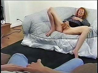 Hot Milf Gets Her Ginger Minge Poked And  A Creamy Face !