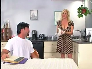 Mom Kitchen Natural Big Tits Blonde Big Tits Milf Big Tits Mom