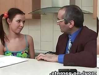 Daddy Kitchen Old And Young Dad Teen Daddy Kitchen Teen