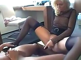 German European Fishnet Fishnet German Milf Masturbating Toy