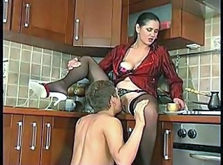 Kitchen MILF Licking Kitchen Sex Milf Stockings Stockings
