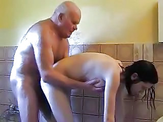 Daddy Showers Old And Young Dad Teen Daddy Daughter