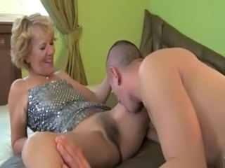 Mature with hairy pussy eaten and fucked and loving it free