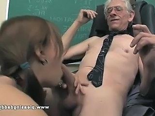 Young Slut Fucks Old Teacher To Pass The Class