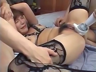 Asian Hairy Hardcore Stockings Toy Asian