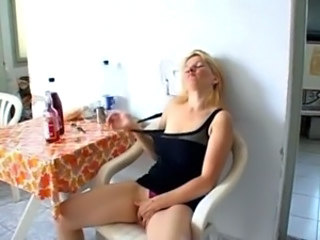 German European Masturbating Drunk Mature European German