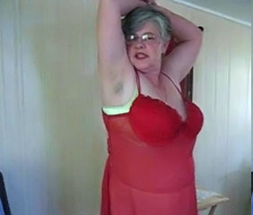 Hairy Granny Stripping by snahbrandy