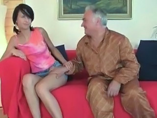 Natalia takes onto her boyfriend and the elder bloke surrounding the huge gut