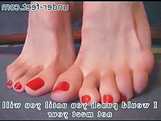 Beautiful toes in get used to up femdom video tubes