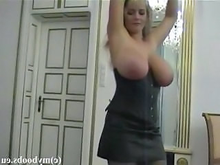 Polish Busty star Bea Flora dancing and playing with boobs