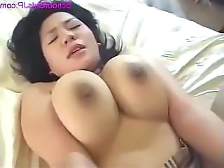Fat Schoolgirl With Huge Tits Getting Her Hairy Pussy Fucked By Man Cum To Tits On The Bed In The Ho
